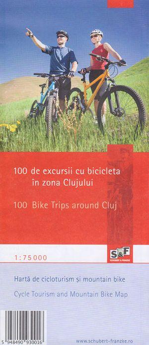 100 Bike Trips Around Cluj  fietskaart