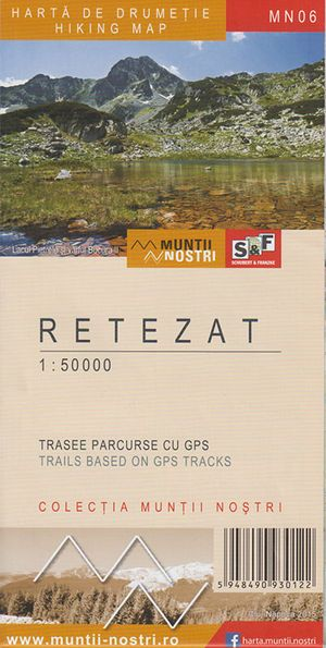 Retezat 1:50.000 Wandelkaart (west-roemen)