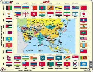 Larsen puzzel- Vlaggen Azie- KL2