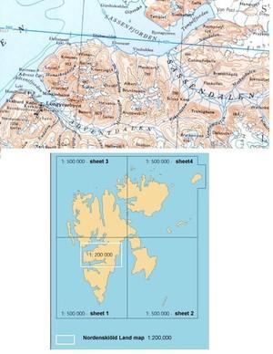 Spitsbergen Nordre Del 1:500.000