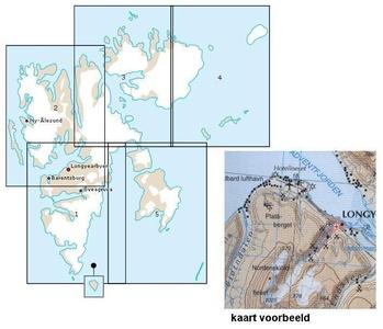Svalbard Nordaust 1:250d Blad 4 Norsk Po