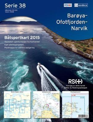 Nautical Map Serie 38 Baroya Harstad Bootsportkarten 1:50.000