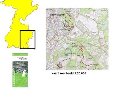 Mountainbikeroutekaart Zuid-limburg 1:50