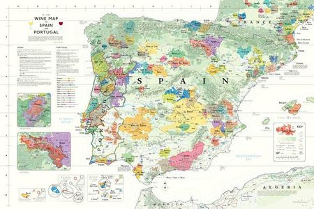 Wine Map Spain Portugal Plano De Long