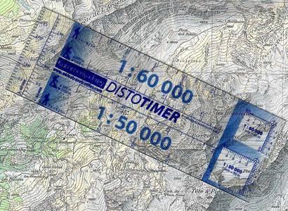 Distotimer K+F Kaarthoekmeter 1:50.000 / 1:60.000