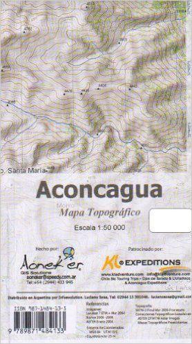 Aconcagua 1:50.000 Meridies Aoneker