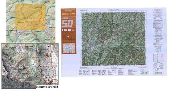 Igmi 216 Borgo Val Di Taro 1:50.000