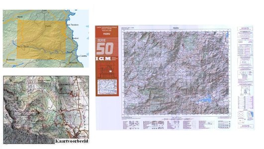 Igmi 462 Padru (sard) 1:50.000