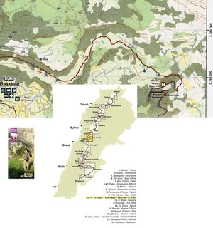 Lebanon Mountain Trail Mapguide Set