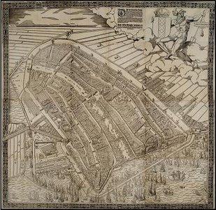 Amsterdam 1544 Cornelis Anthonisz 69x69  wandkaart
