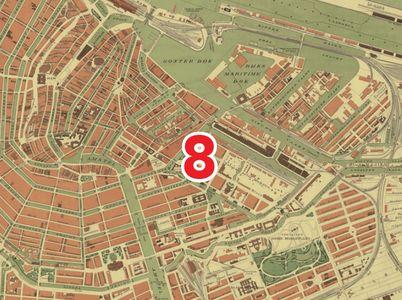 Amsterdam Blad 8 Scheltema Kaart