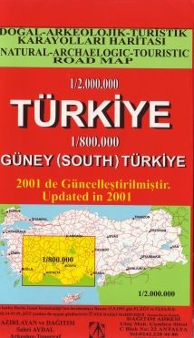 Turkiye Map + South 1/800.000