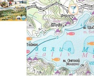 Olchon / Olkhon Island Maloe More 1:100