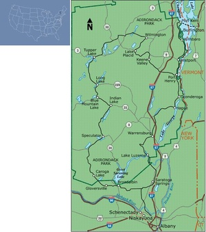 Adirondack Park Loop Bicyle Map 1 Bc1005