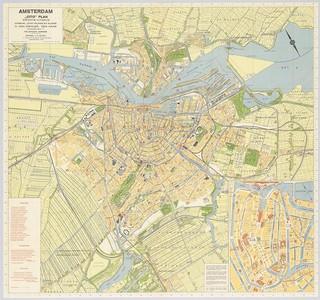 Citoplan Amsterdam 1935 wandkaart