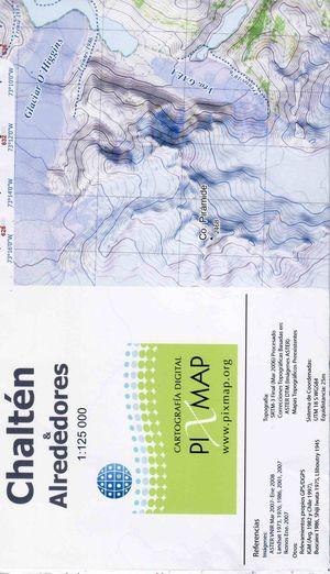 Chalten Alrededores 1:125.000 Pixmap
