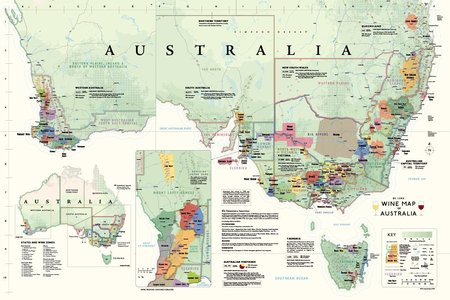 Wine Map Australia Plano De Long