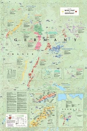 Wine Map Germany Plano De Long