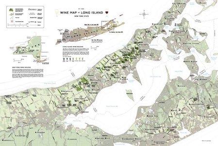 Wine Map Long Island Plano De Long