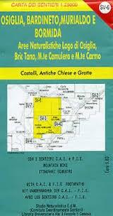 Osiglia, Bardineto, Murialdo 1:25.000 Sv6