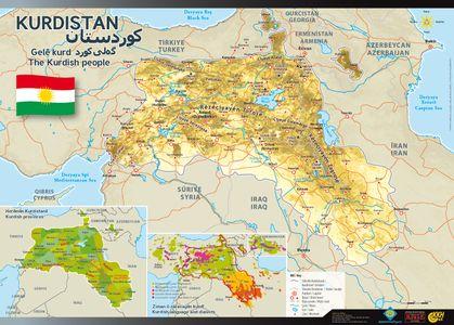 Kurdistan Wandkaart Koerdistan
