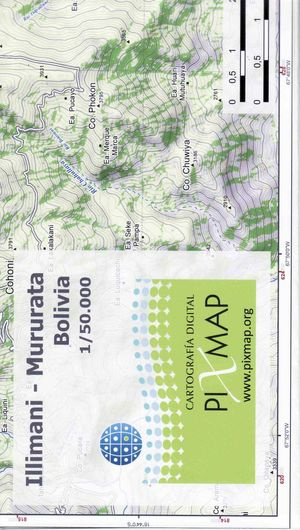 Illimani - Mururata 1:50.000 Pixmap