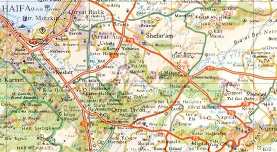 Israel Touring Wall Map Set 1:250d