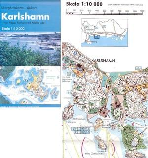 Karlshamn 1/10d Skargardskarta - Sjokor