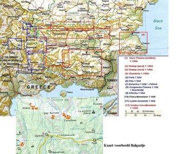 Vitosha 1:50.000 Kartografia Bulgaria