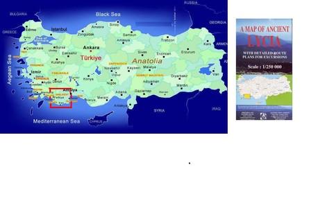 Ancient Lycia 1:250d Incl. Lycian Way
