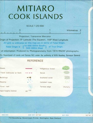 Mitiaro (cook Islands) 1:25.000
