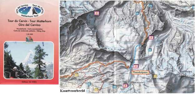 Tour Matterhorn-tour Du Cervin 1:50.000