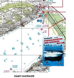 Vierwaldstatter- Zugersee Seekarte S&f