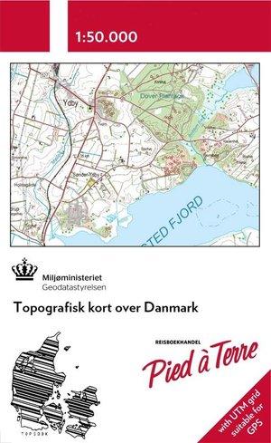 Denemarken topografische kaart op maat  1:50.000