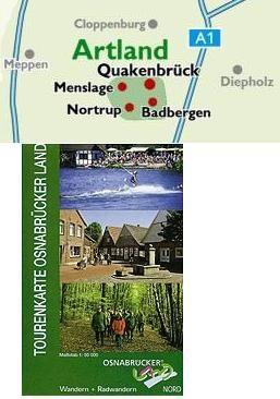 Osnabruckerland Nord Tourenkarte 1:50.000.