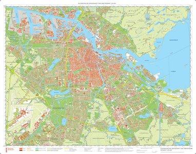 Amsterdam Basiskaart 1:25.000 Kleur wandkaart Groot-Amsterdam