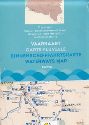 Vaarkaart Belgie 1:220 Vlaanderen:wallon
