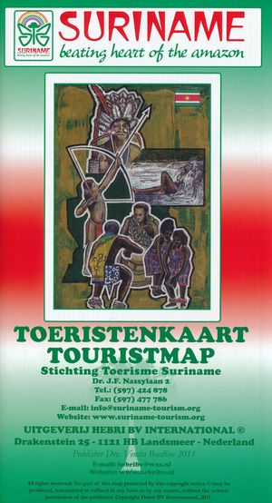 Suriname Toeristenkaart Hebri