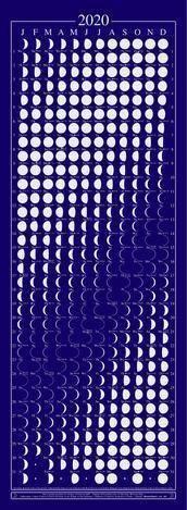 Maankalender 2020 gelamineerd