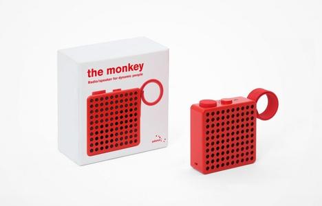 The Monkey Radio/Speaker - Red