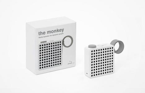 The Monkey Radio/Speaker - White
