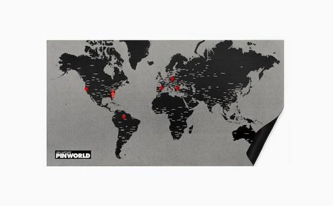 Pinworld large black 124 x 66cm