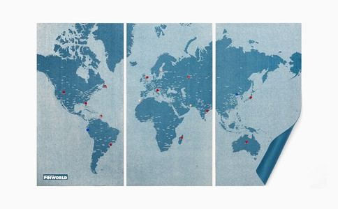 Pinworld X large light blue 198 x 124cm