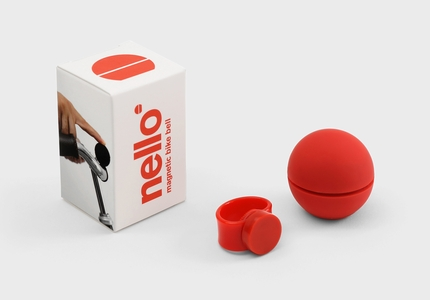 Nello magnetic bike bell red