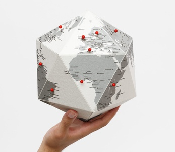 Here by cities - personal globe small 23cm diameter