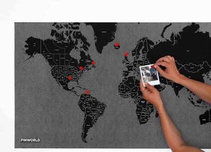 Pinworld by countries mini black 77 x 48cm