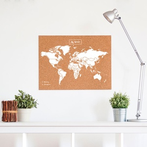 Woody map large wit 60 x 45cm