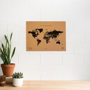 Woody map large zwart 60 x 45cm