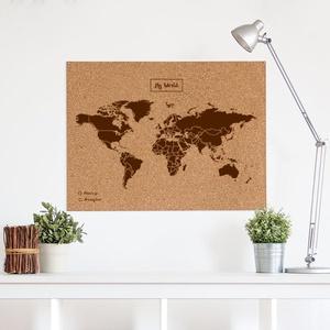 Woody map Xlarge bruin 90 x 60cm