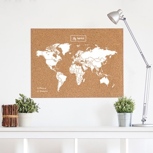 Woody map Xlarge wit 90 x 60cm